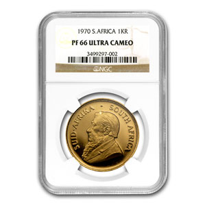 1970 1 oz Gold South African Krugerrand PF-66 UCAM NGC