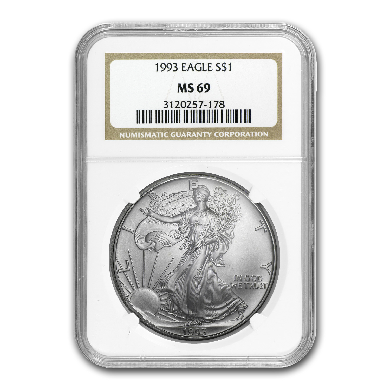 1993 Silver American Eagle MS-69 NGC