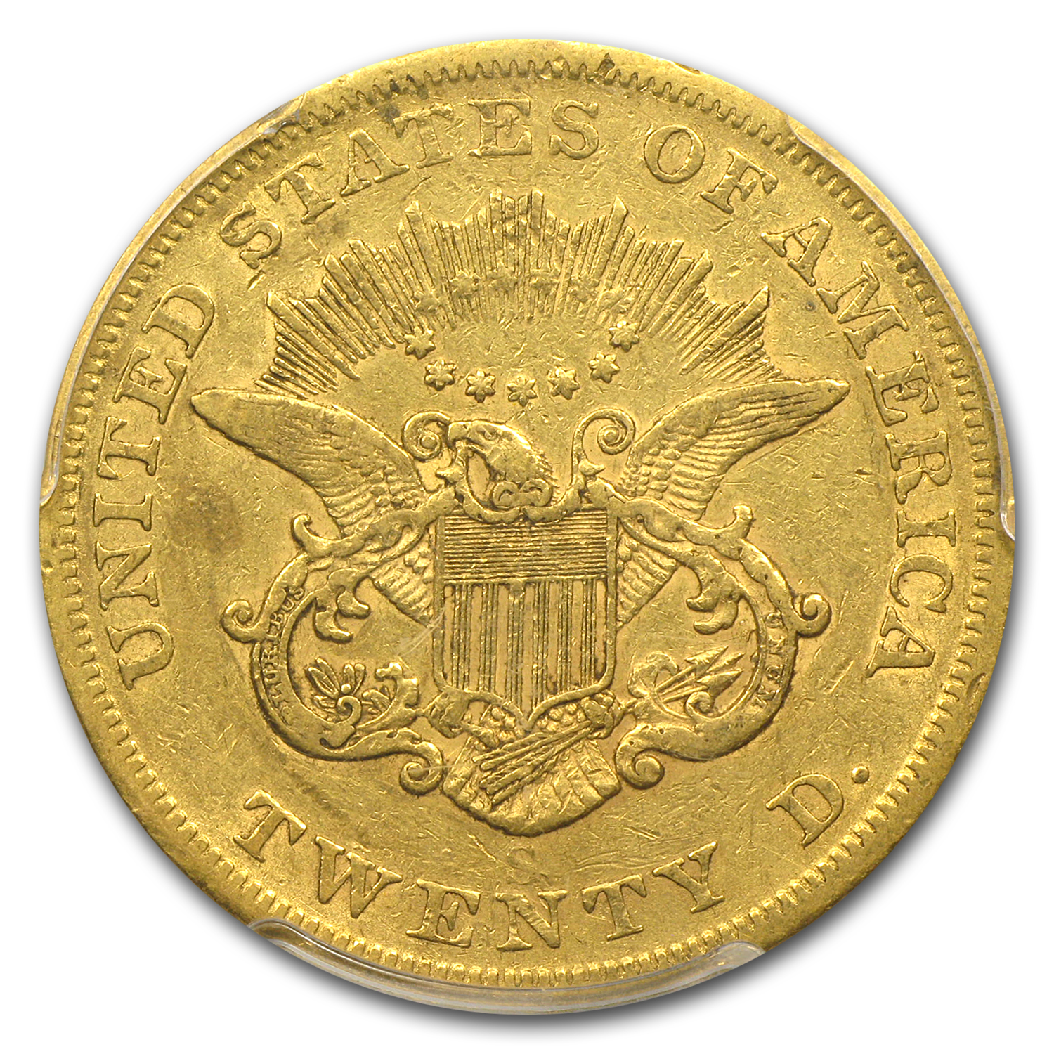 1855-S $20 Gold Liberty Double Eagle - EF-40 PCGS