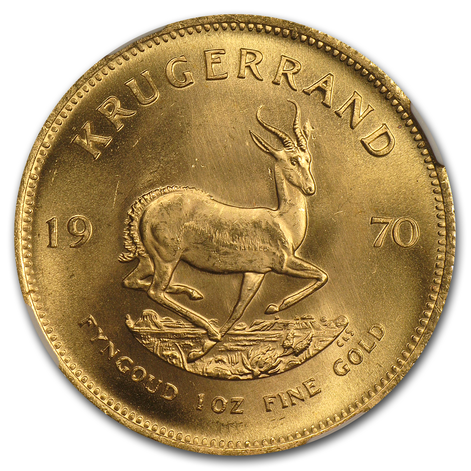 1970 1 oz Gold South African Krugerrand MS-65 NGC