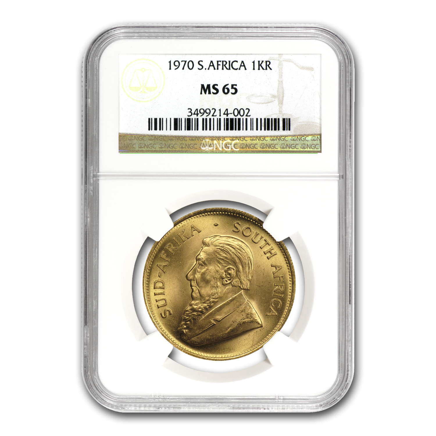 1970 South Africa 1 oz Gold Krugerrand MS-65 NGC