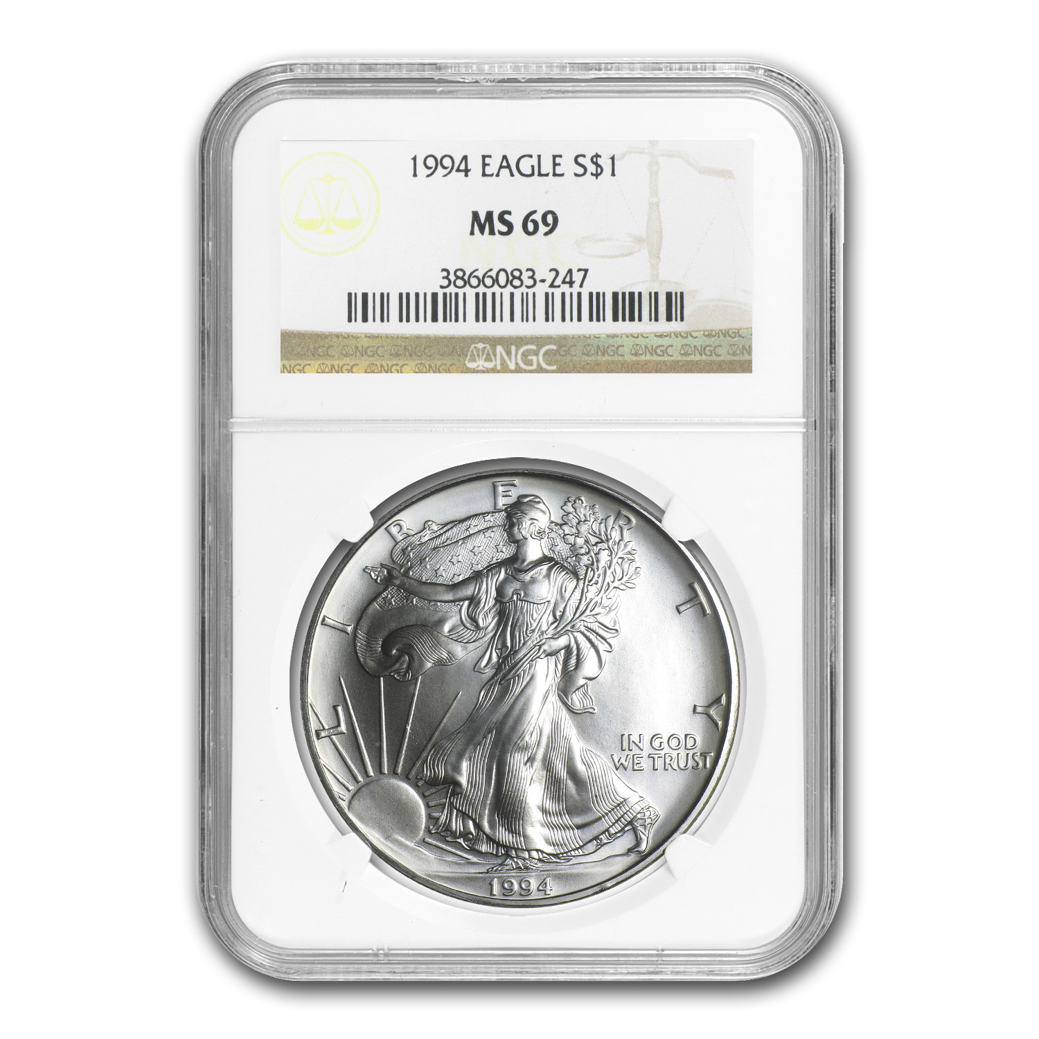1994 Silver American Eagle MS-69 NGC