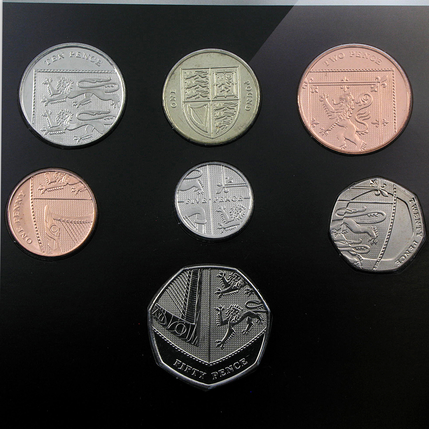 United Kingdom 7 Coin Set