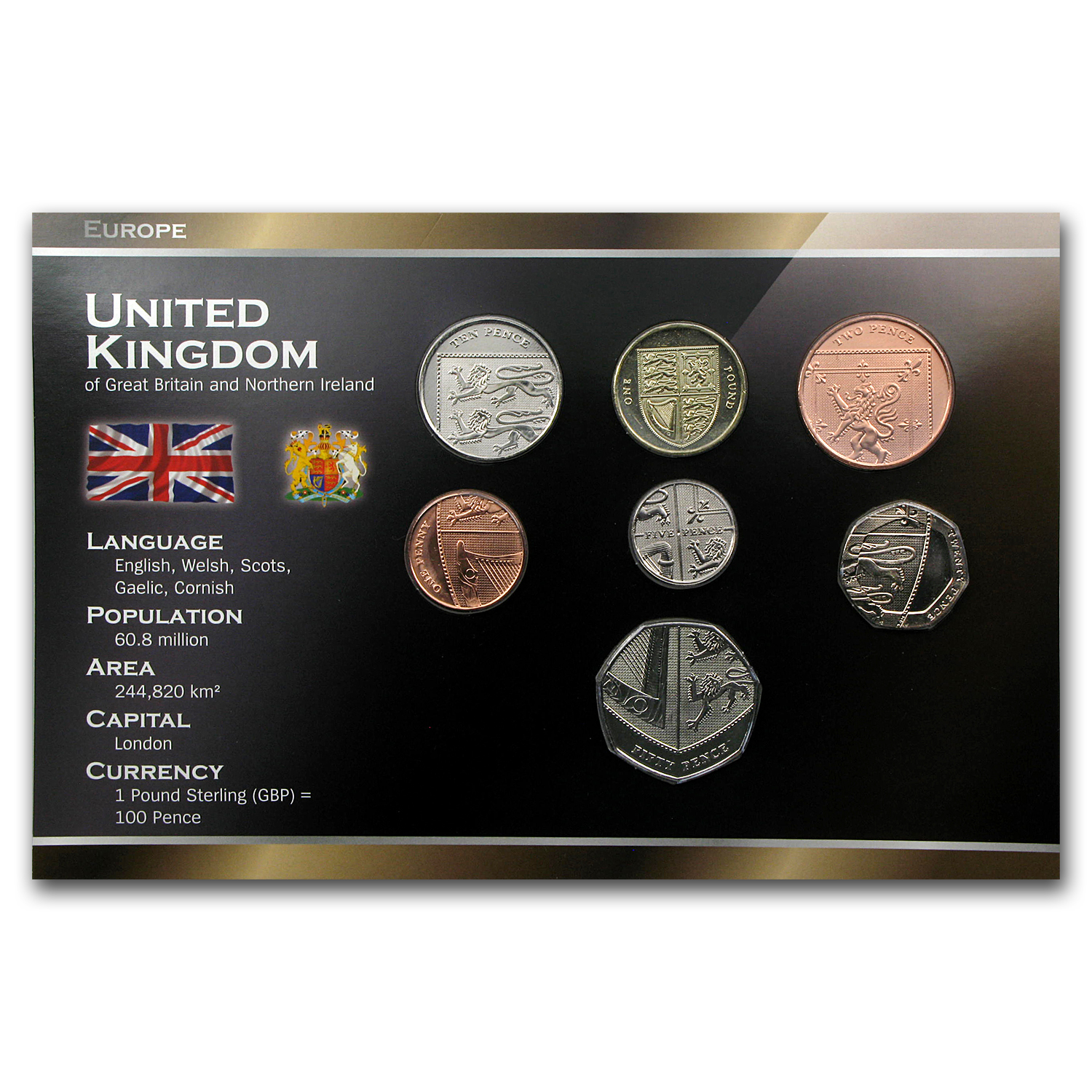 United Kingdom Coin Set - 7 Coins