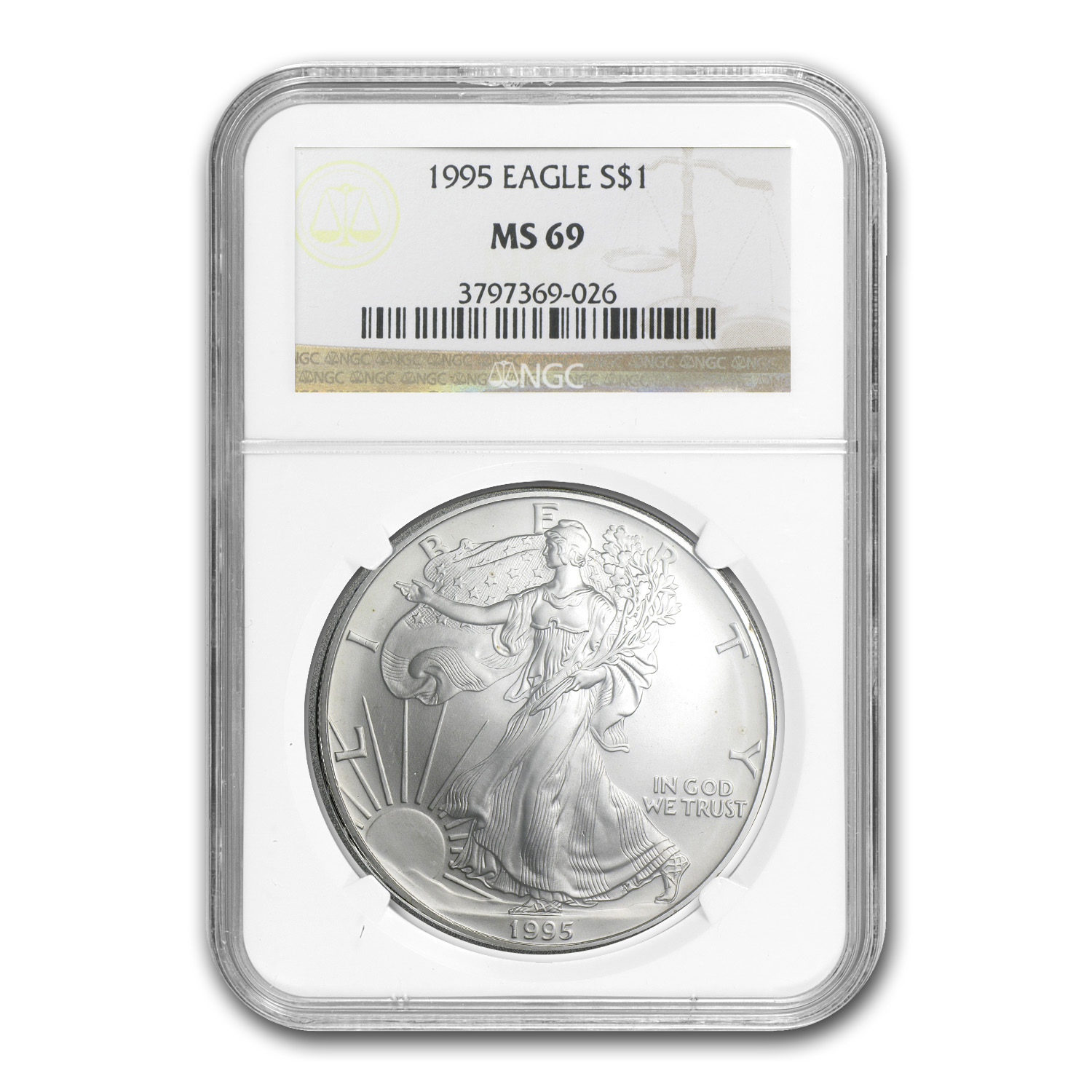 1995 Silver American Eagle MS-69 NGC