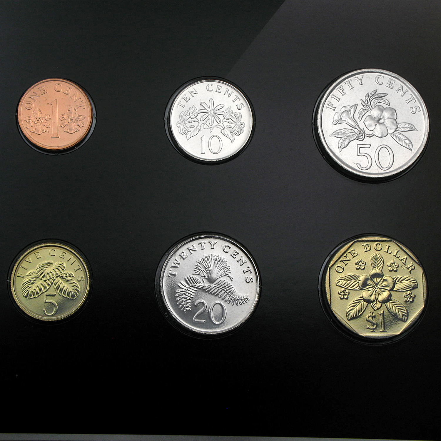 Singapore Coin Set - 6 Coins