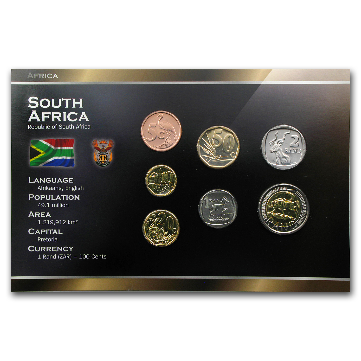 South Africa Rand Coin Set - 7 Coins