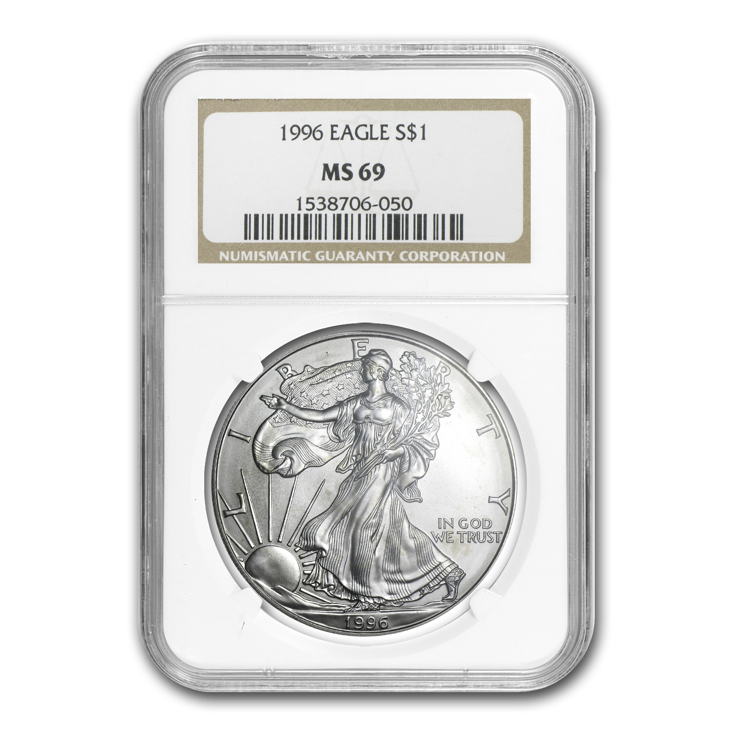 1996 Silver American Eagle MS-69 NGC
