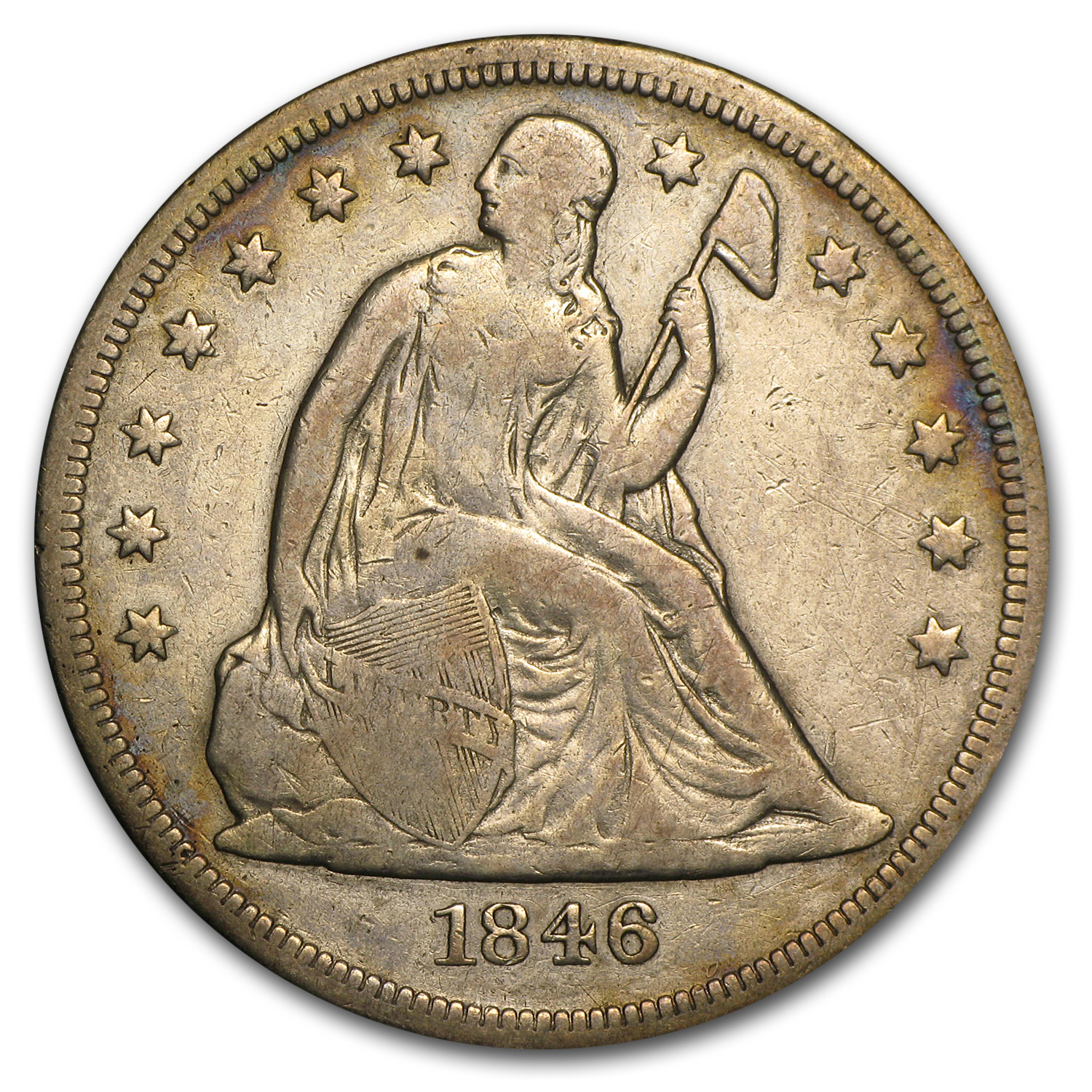 1846-O Liberty Seated Dollar Very Fine
