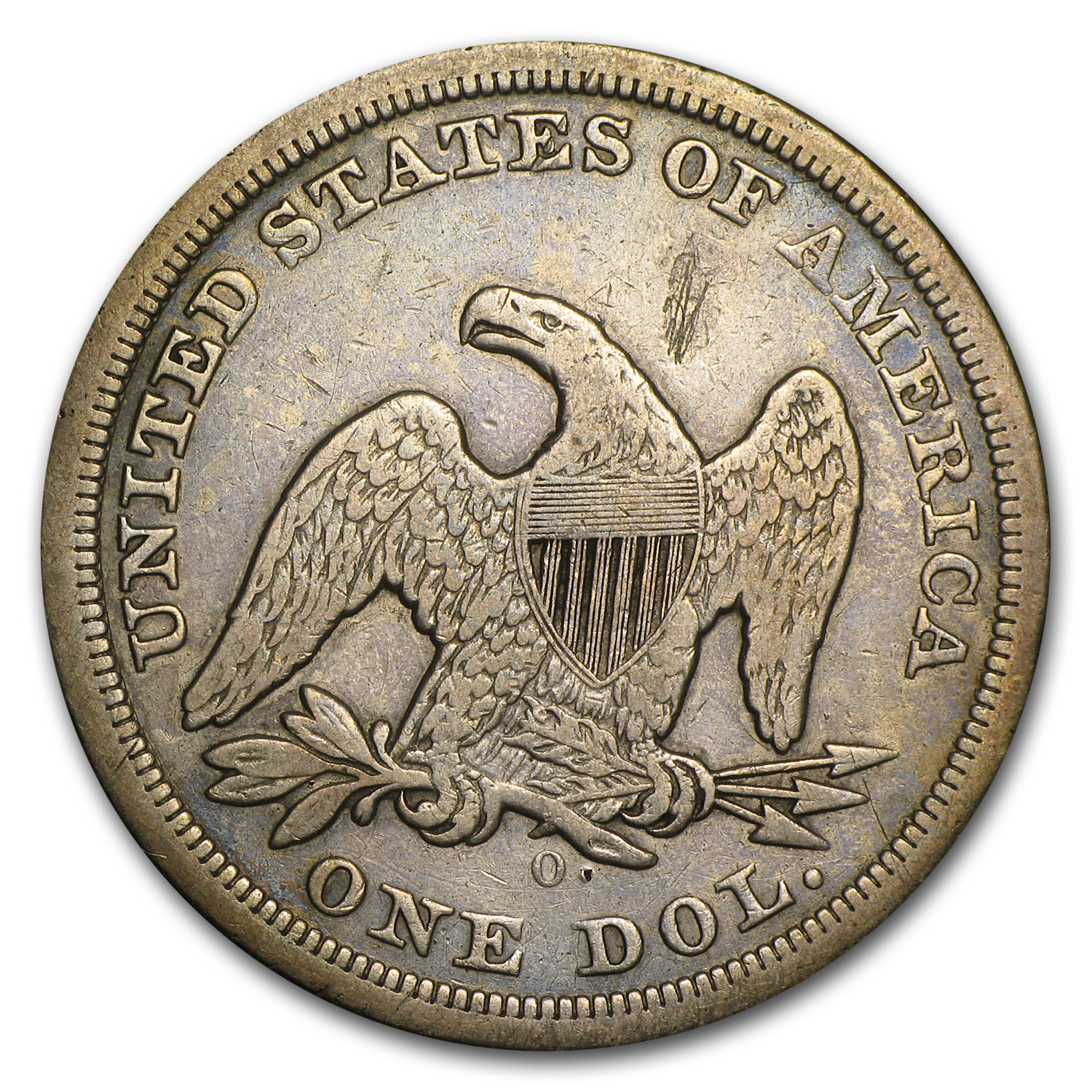 1846-O Liberty Seated Dollar - Very Fine