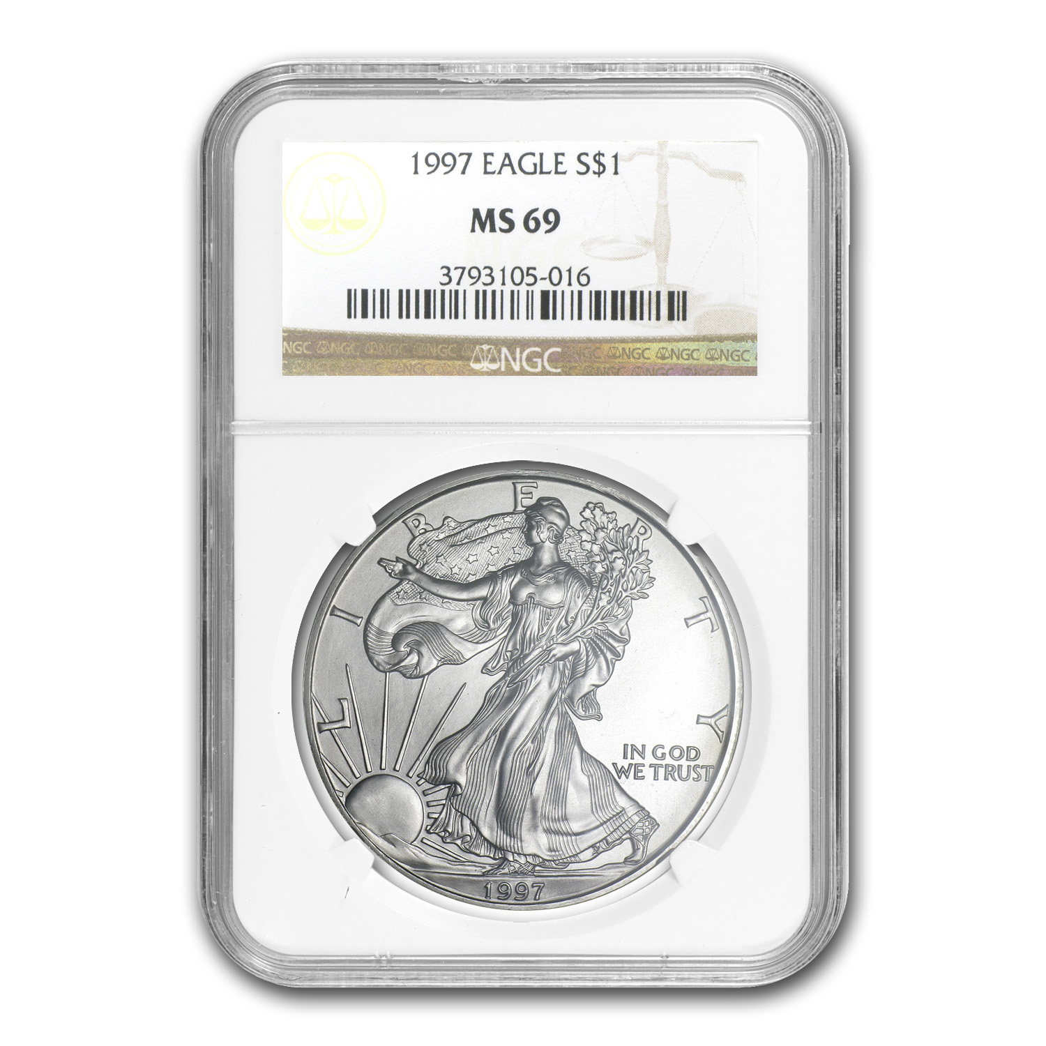 1997 Silver American Eagle MS-69 NGC