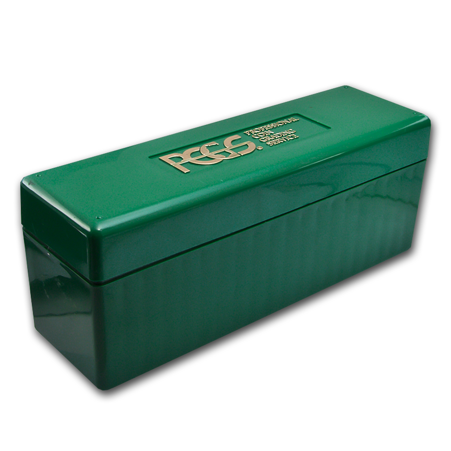 Vintage Green Pcgs 20 Coin Storage Boxes Used