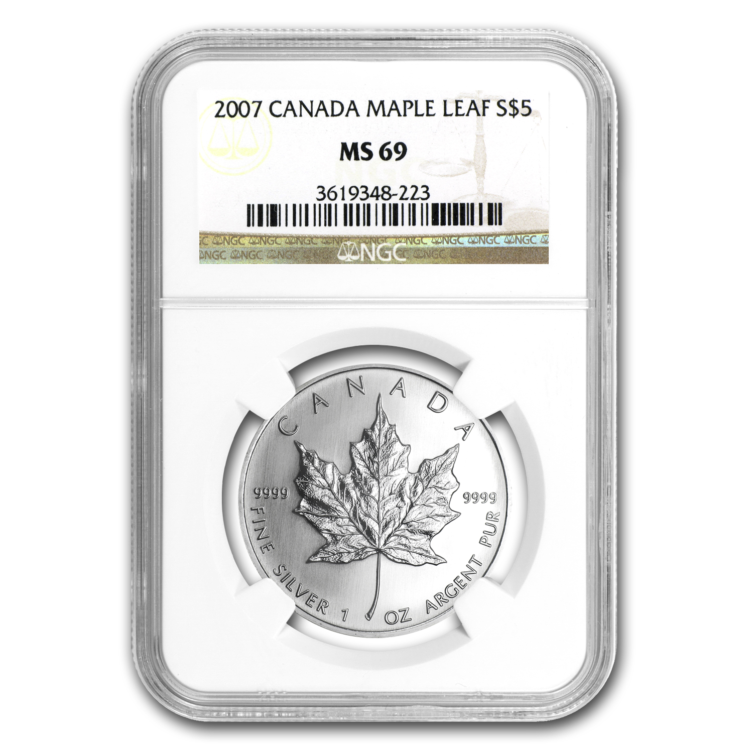 2007 Canada 1 oz Silver Maple Leaf MS-69 NGC