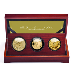2012 3-Coin Royal Gold Queen's Diamond Jubilee Proof Set (w/Box)
