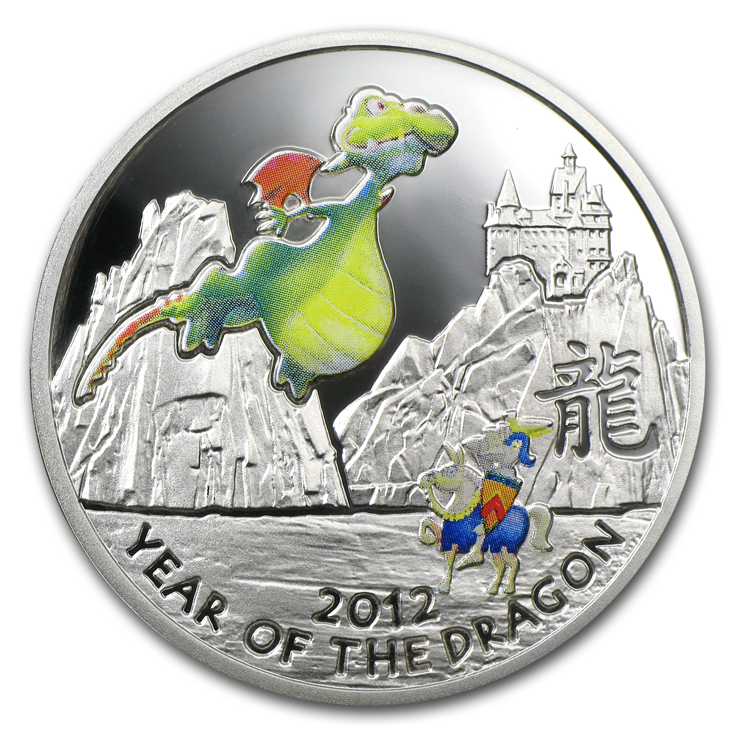 2011 Niue Proof Silver 2012 Year of the Dragon Fairy Tail Dragon