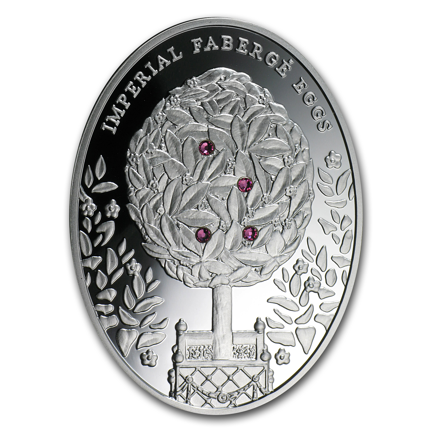 2012 Niue Proof Silver $2 Imperial Faberge Eggs Bay Tree