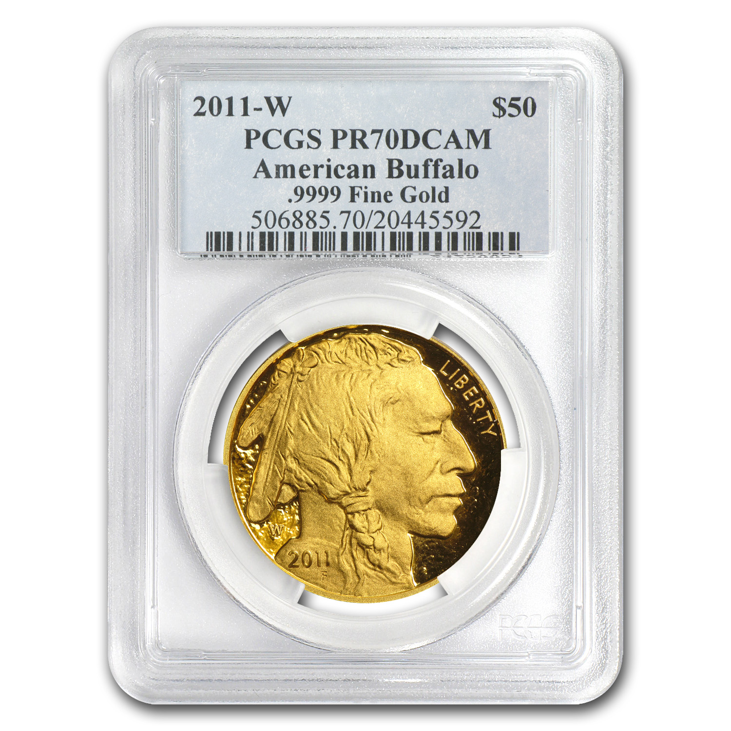 2011-W 1 oz Proof Gold Buffalo PR-70 PCGS