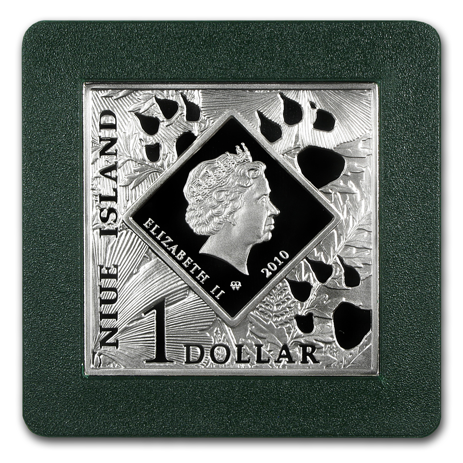 2010 Niue Proof Silver $1 Oddities of Nature Pronghorn