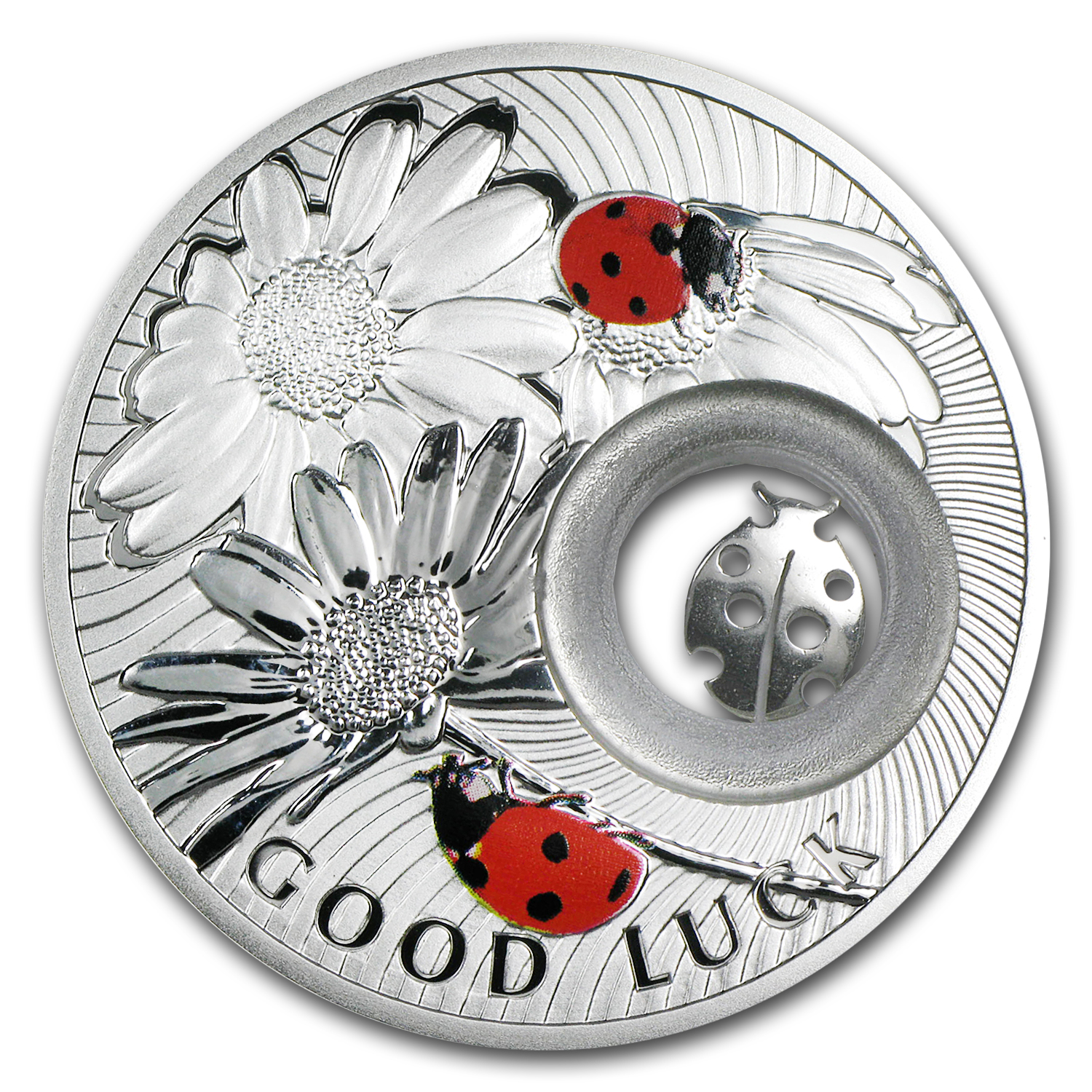 2011 Niue Proof Silver $1 Lucky Coins Series Ladybird