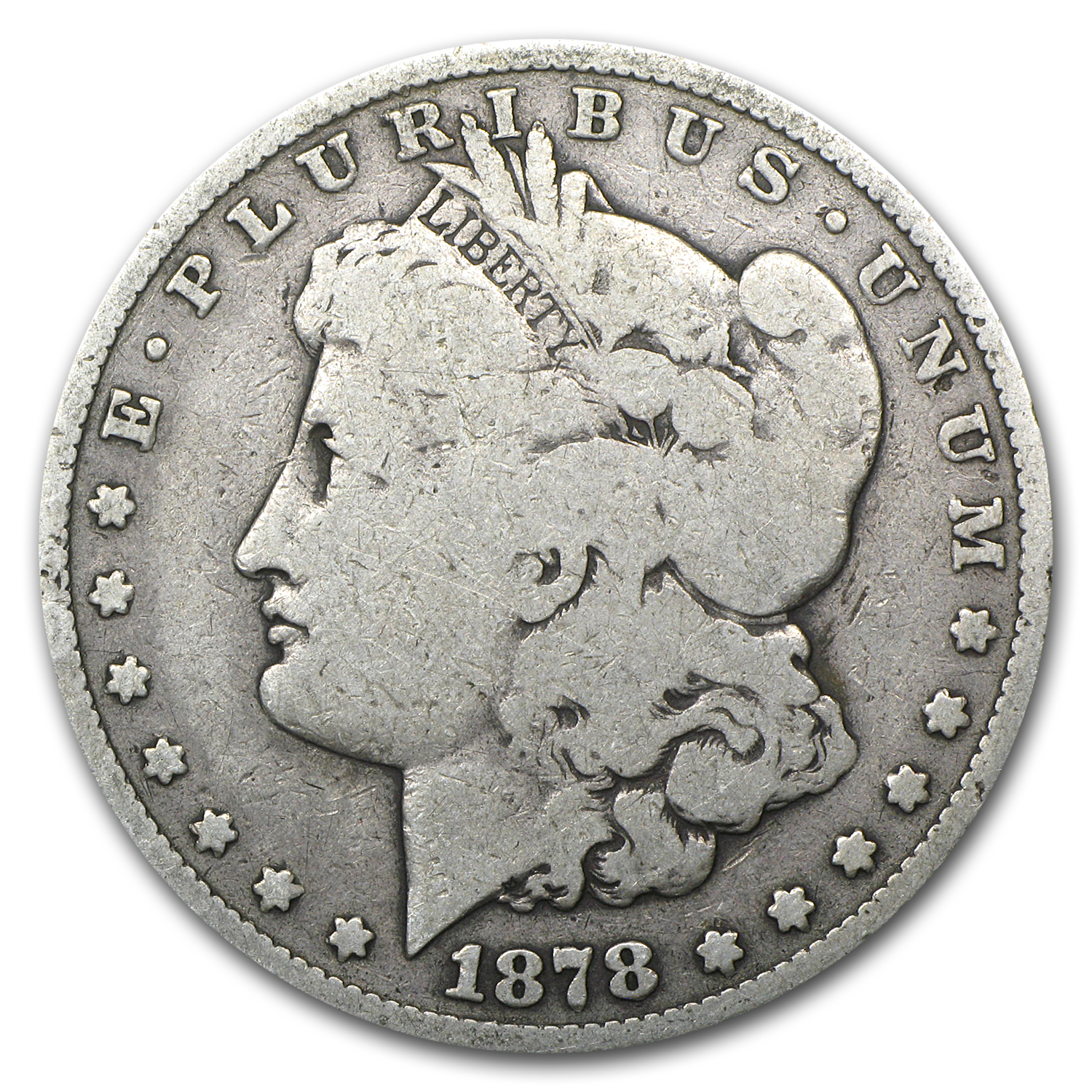 1878-S Morgan Dollar - Good VAM-57 Long Nock Reverse Top-100