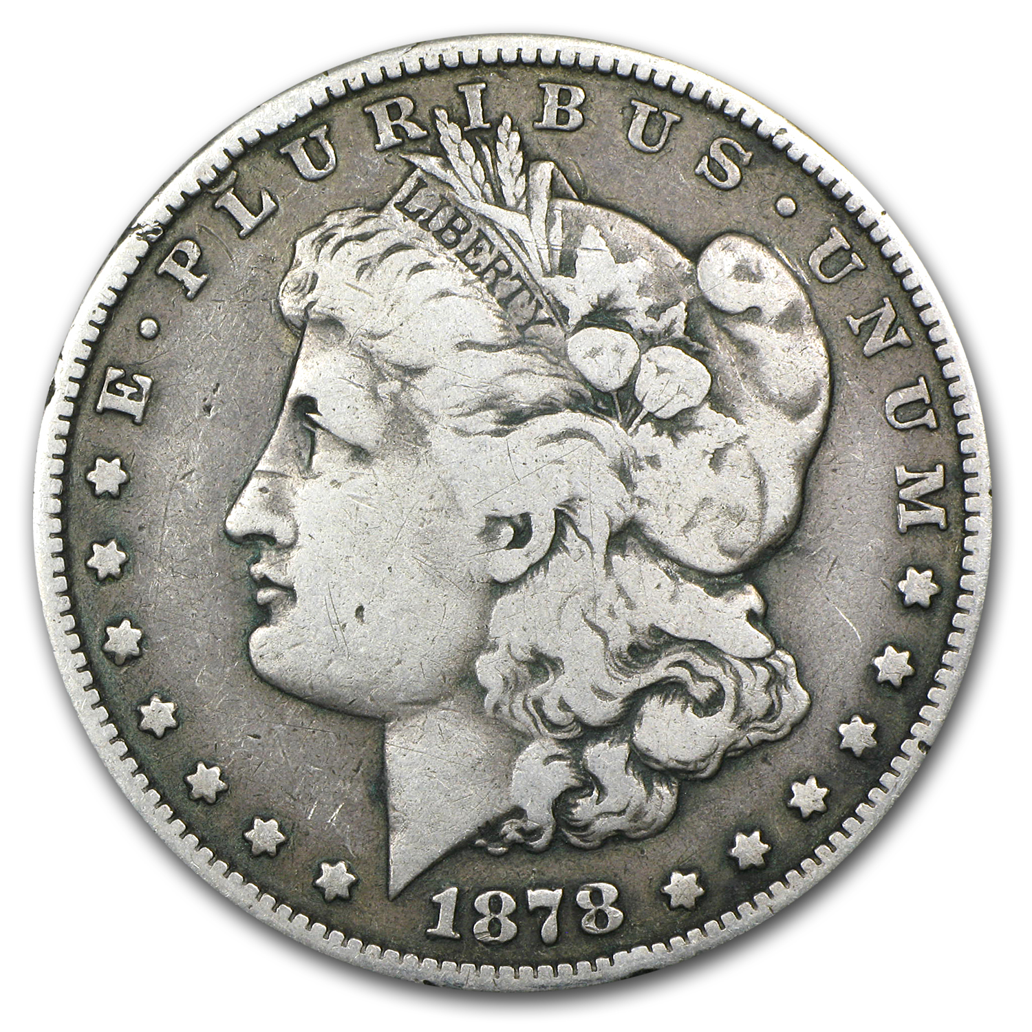 1878-S Morgan Dollar Fine (VAM-58, Long Nock, Top-100)