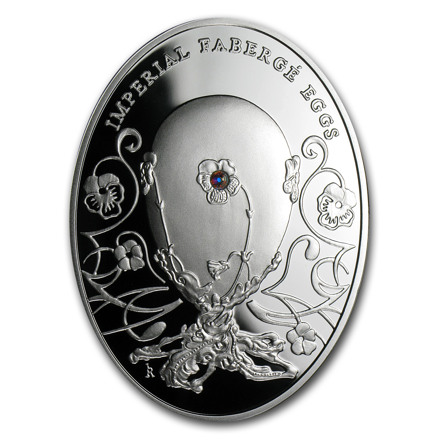 2011 Niue Proof Silver $2 Imperial Faberge Eggs Pansy