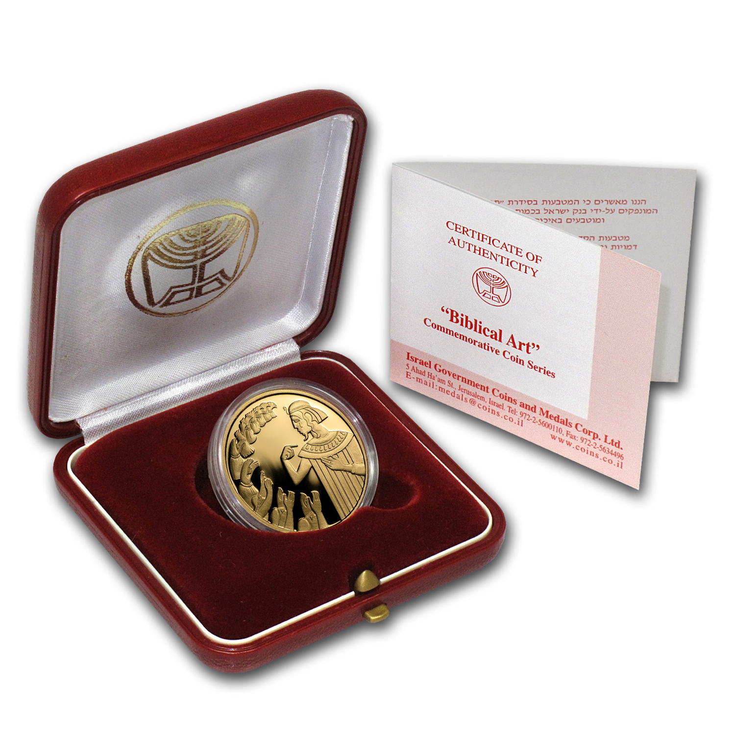 2000 Israel Joseph & His Brothers 1/2 oz Proof Gold w/ box & coa