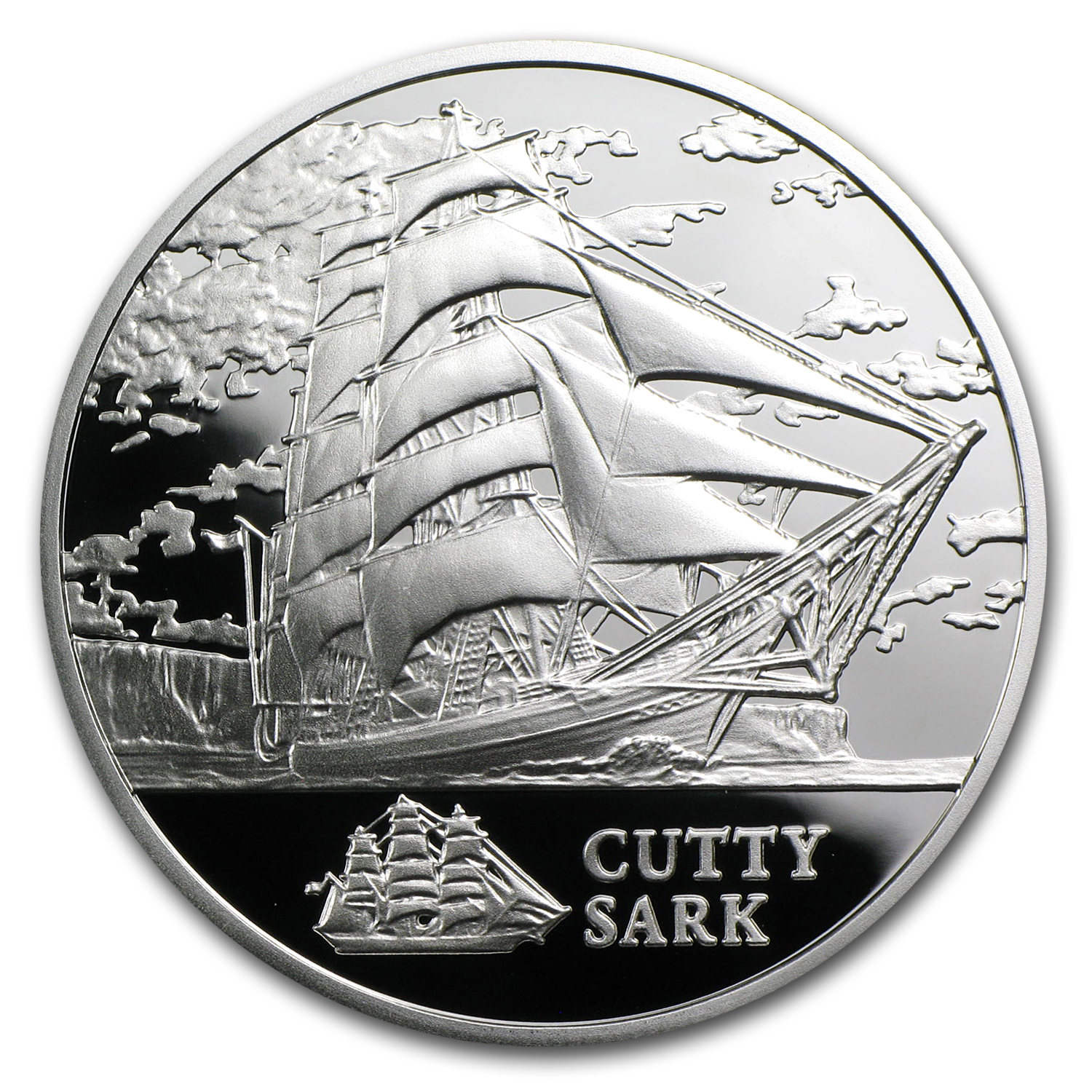 2011 Belarus Silver Sailing Ships w/Hologram Cutty Sark
