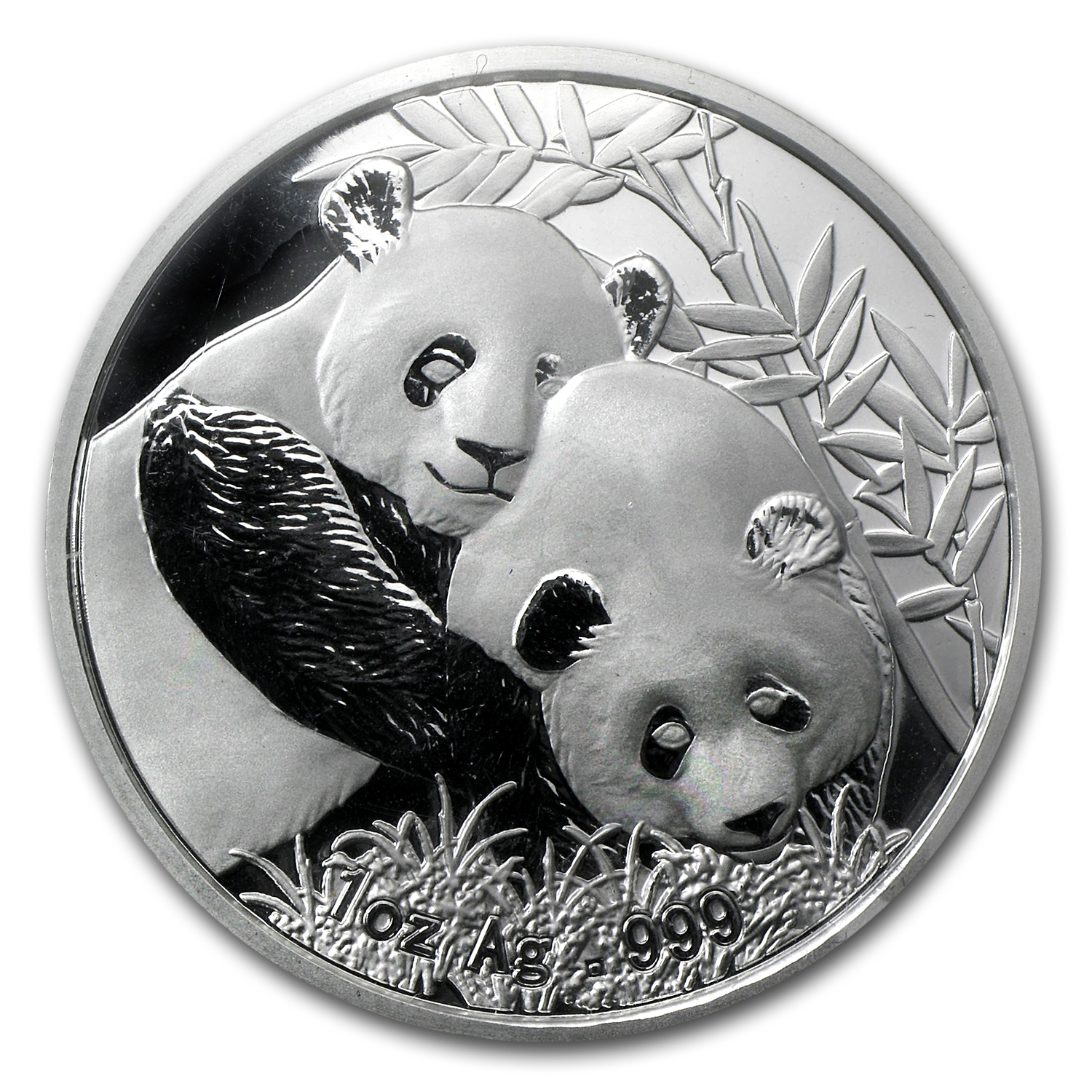 2012 1 oz Silver Chinese Panda Singapore Coin Fair with Box & CoA