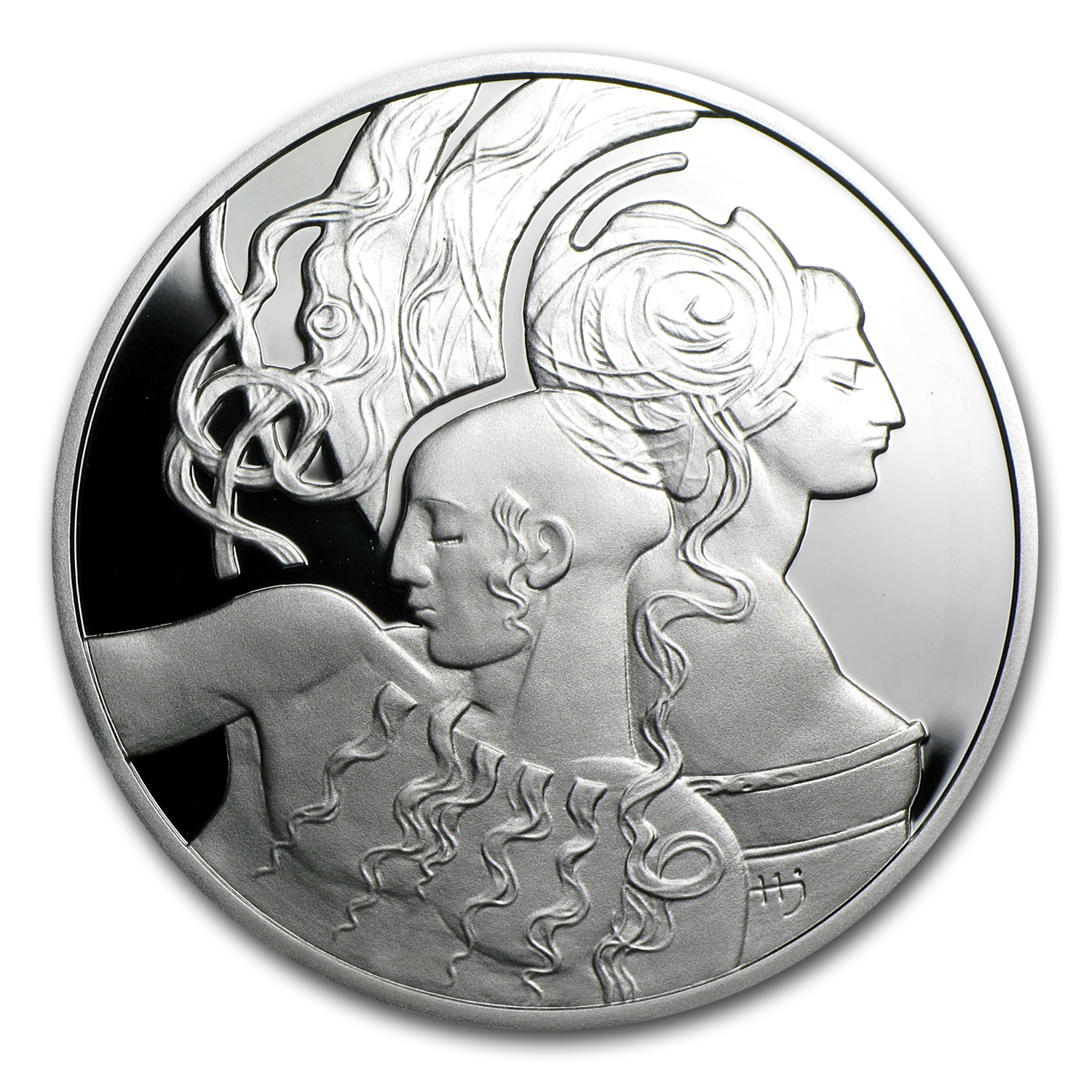 2010 Niue Proof Silver $1 Famous Love Stories Samson & Delilah