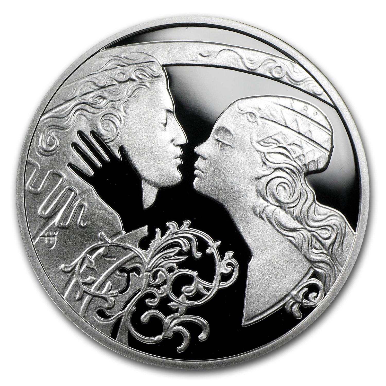 2010 Niue Proof Silver $1 Famous Love Stories Romeo and Juliet