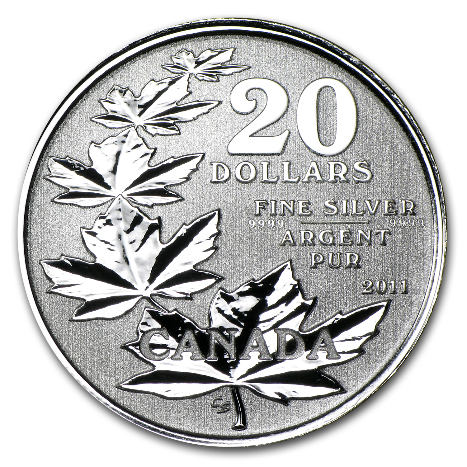 2011 Canada 1/4 oz Silver $20 Maple Leaf Commem (w/COA)