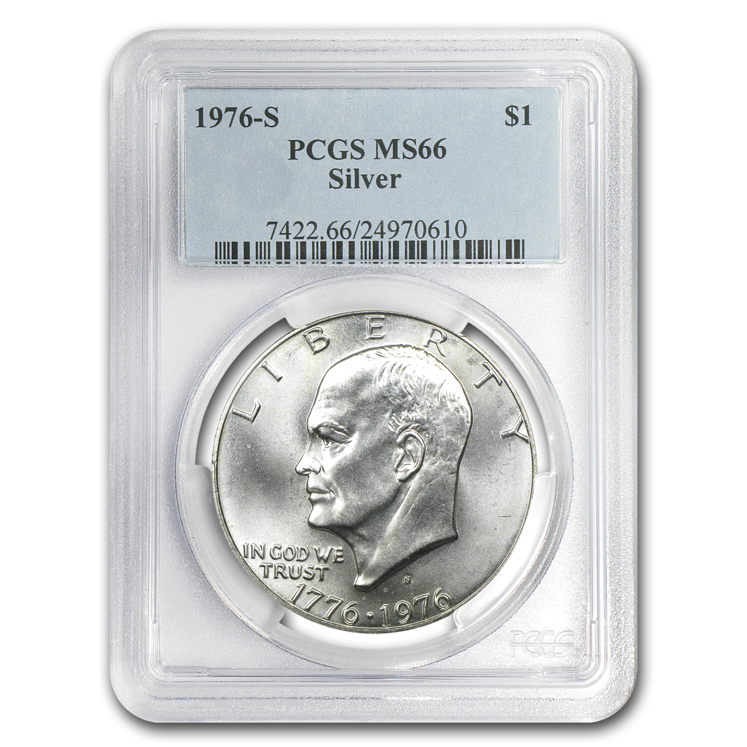 1976-S 3-Pc 40% Silver Bicentennial Mint Set MS-66 PCGS