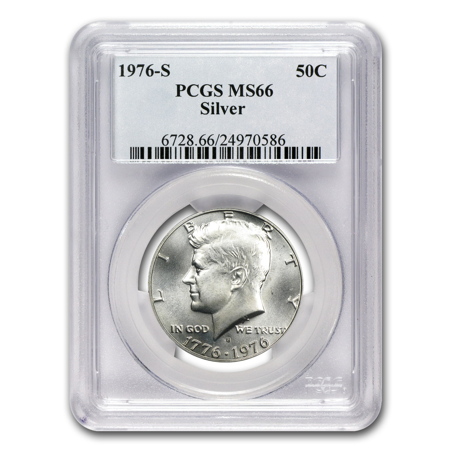 1976-S Eisenhower Dollar MS-66 - PCGS - Bicentennial Mint Set