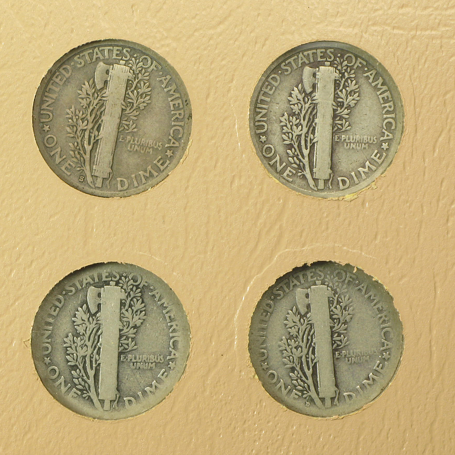 1916 - 1945 NEAR COMPLETE MERCURY DIME SET In Dansco Album