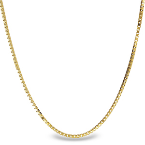 Box Chain 14k Gold Necklace - 24 in.