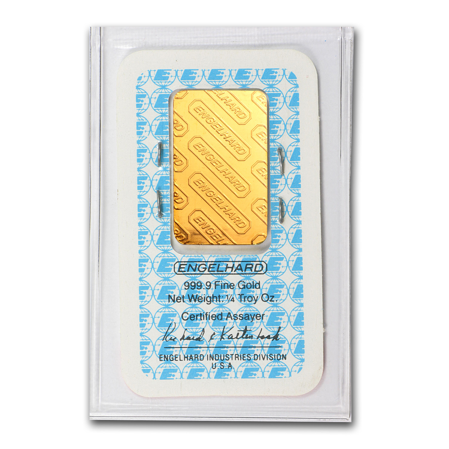1/4 oz Gold Bars - Engelhard (In Assay)