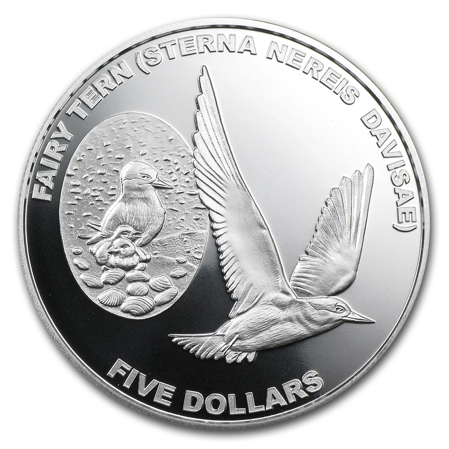 2012 New Zealand 1 oz Silver $5 Annual Coin Fairy Tern Proof