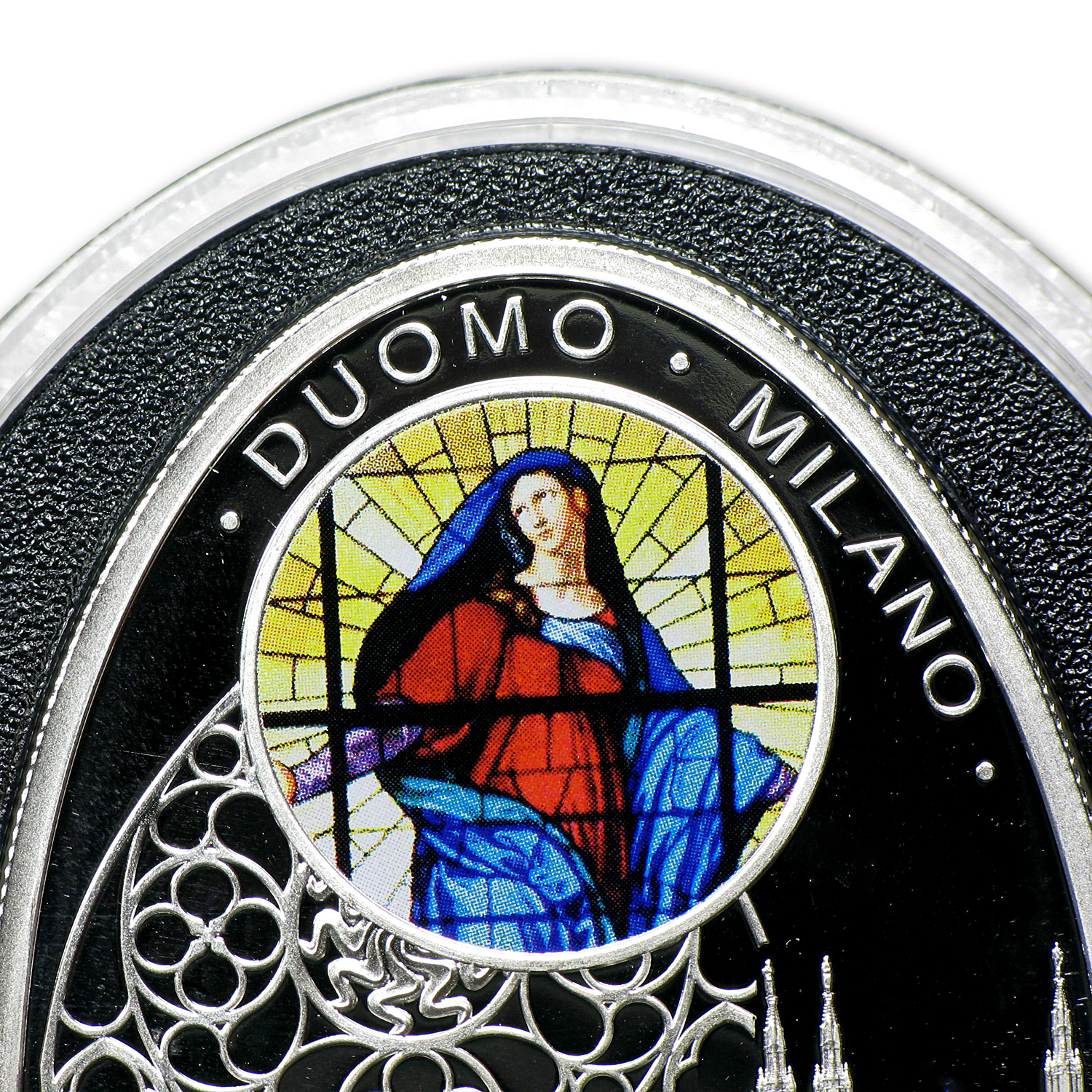 2010 Niue Proof Silver $1 Gothic Cathedrals Duomo Milano