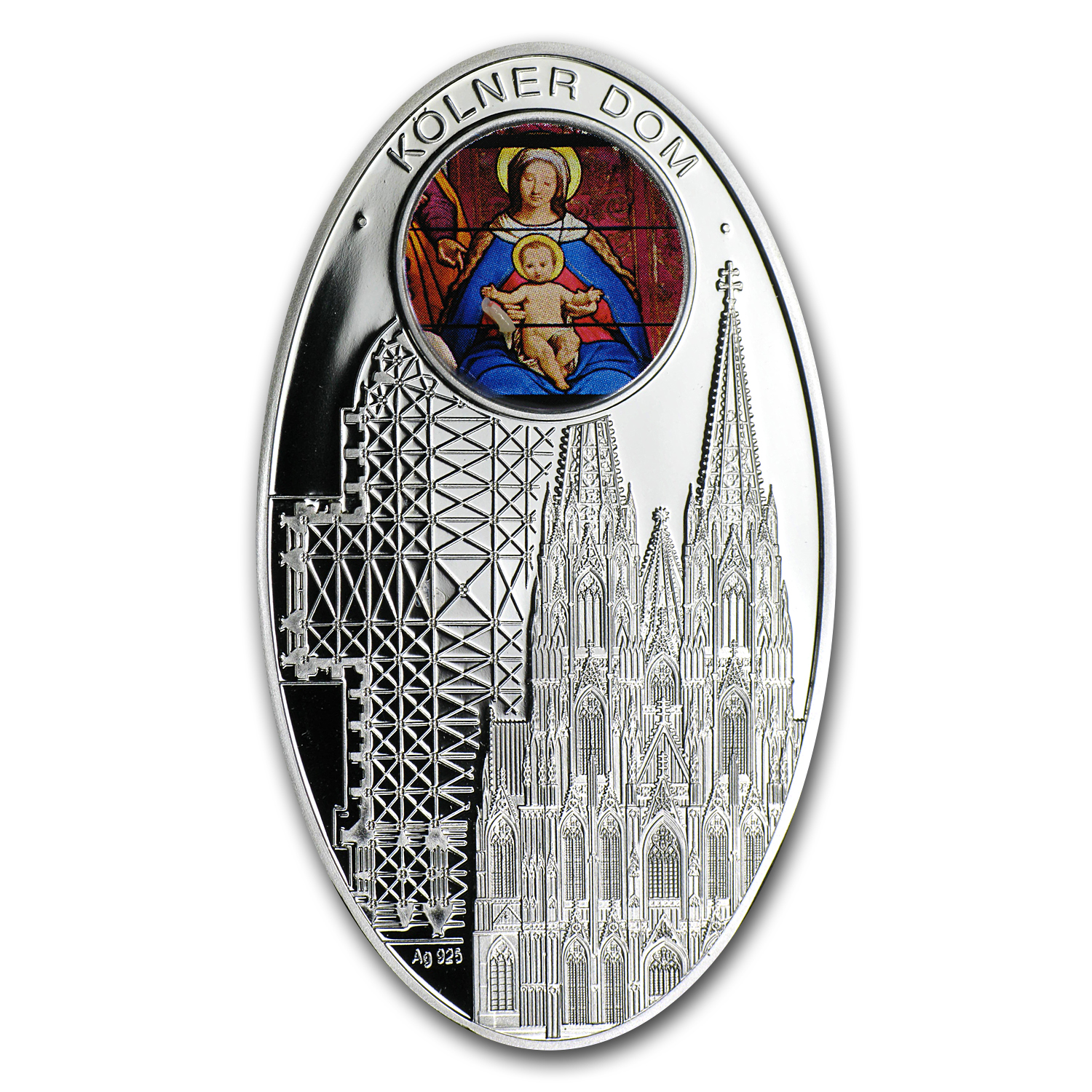 2011 Niue Proof Silver $1 Gothic Cathedrals Cologne Dome
