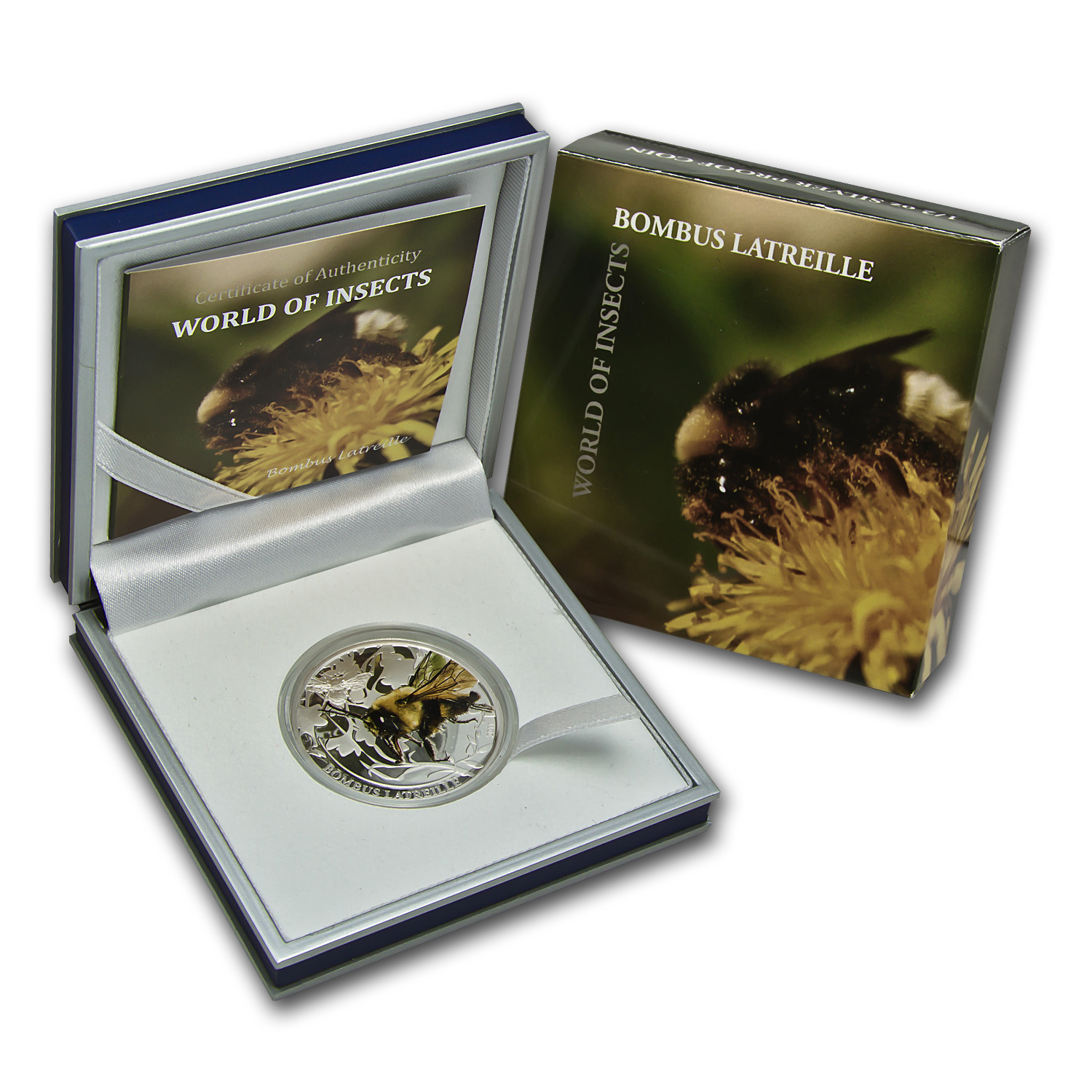 2011 Palau Silver $2 World of Insects Bombus Latreille Bumblebee