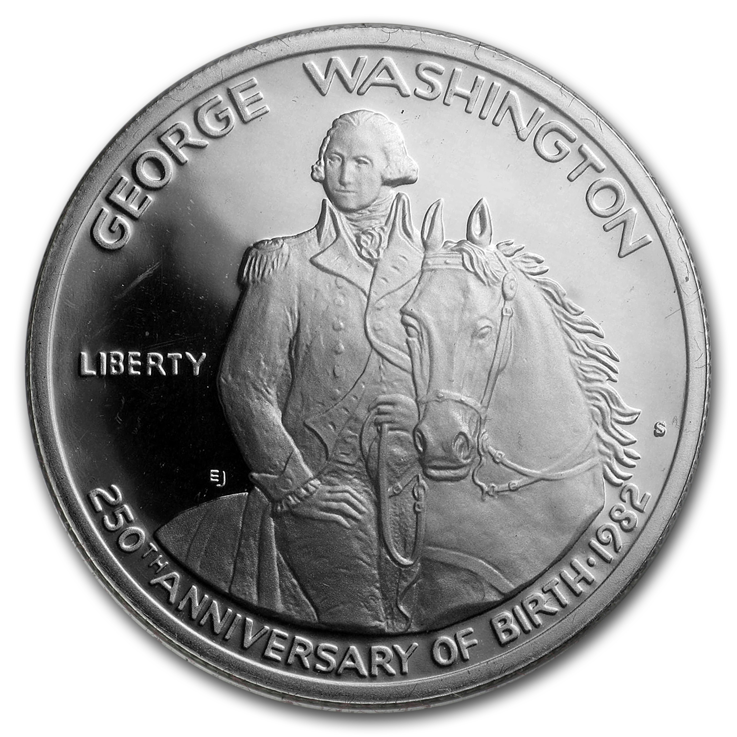 1982-S George Washington 1/2 Dollar Silver Commem Prf (Box & COA)