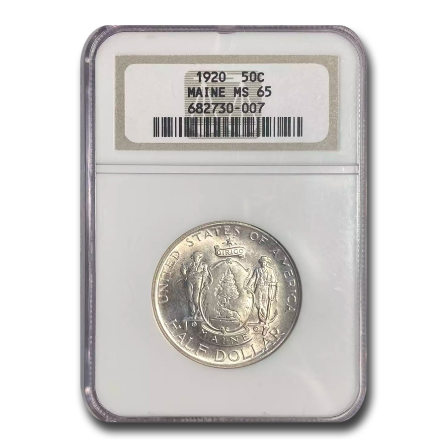 1920 Maine Half Dollar MS-65 NGC