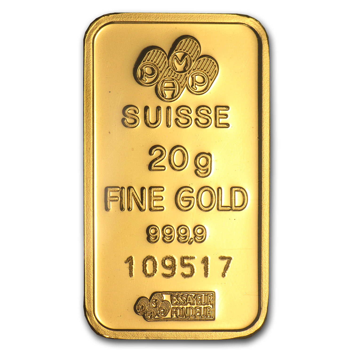 20 gram Gold Bar .999+ Fine (Mint varies-With Assay Card)