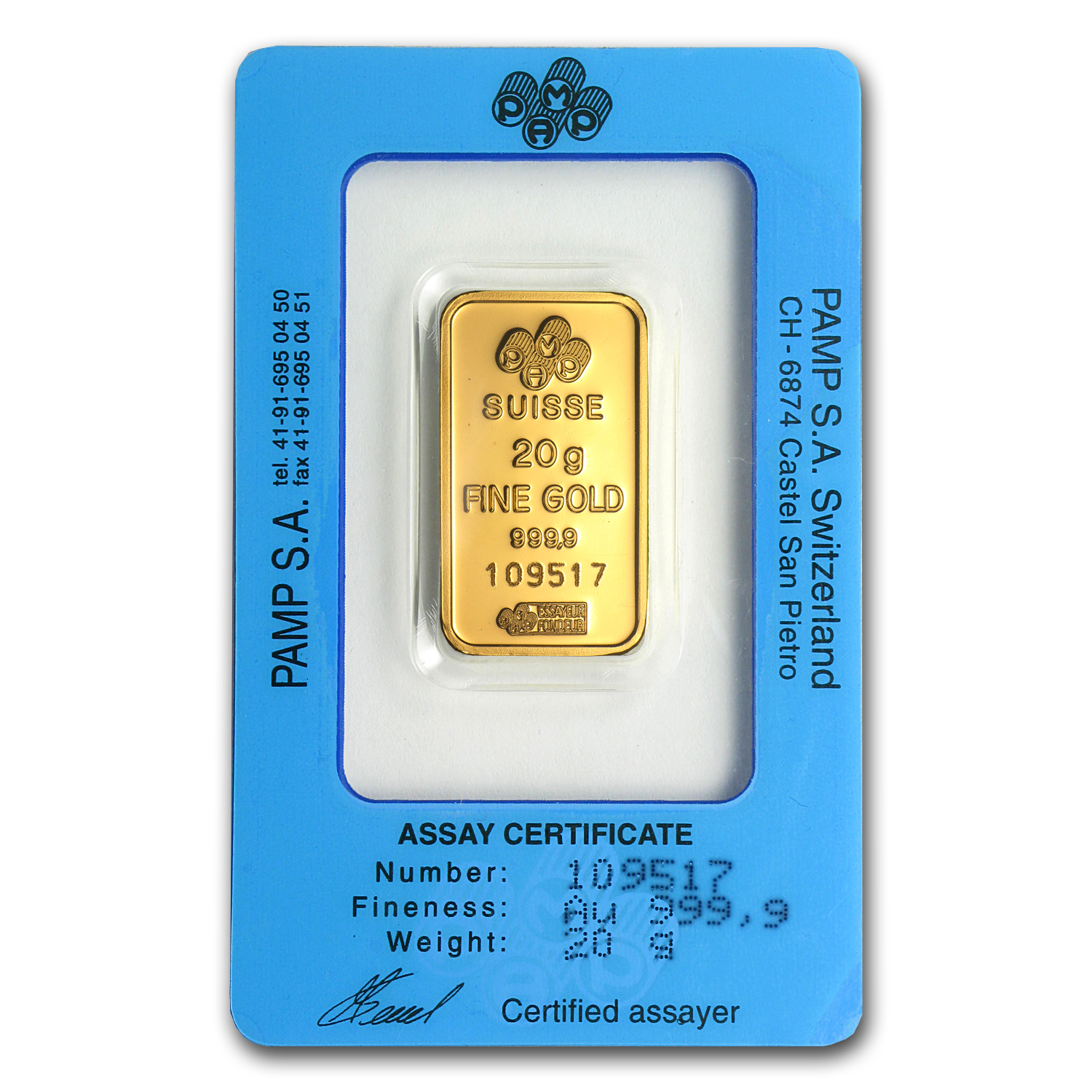 20 gram Gold Bar - Mint Varies (w/Assay Card)