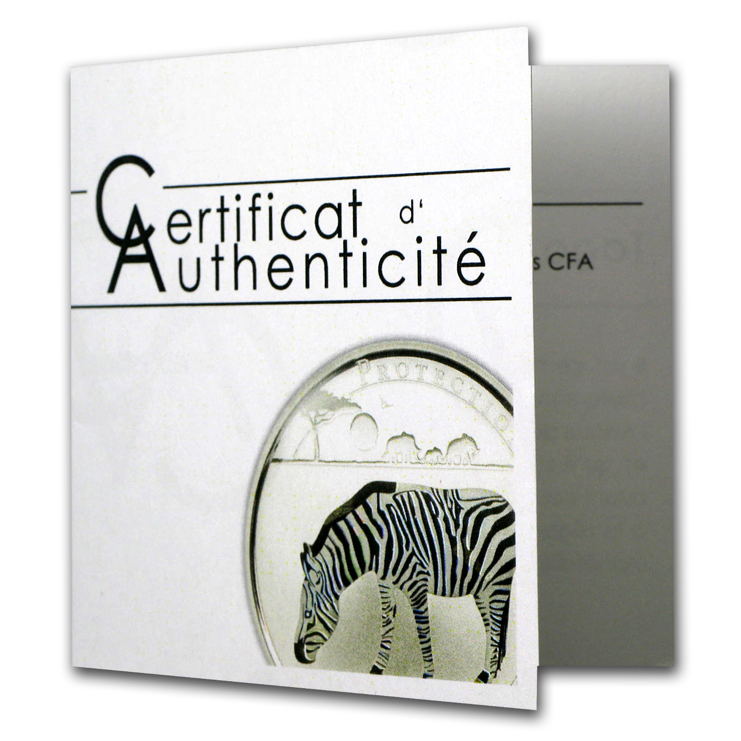 Togo 2011 Silver 1000 Francs CFA Wildlife Protection -Zebra Prism