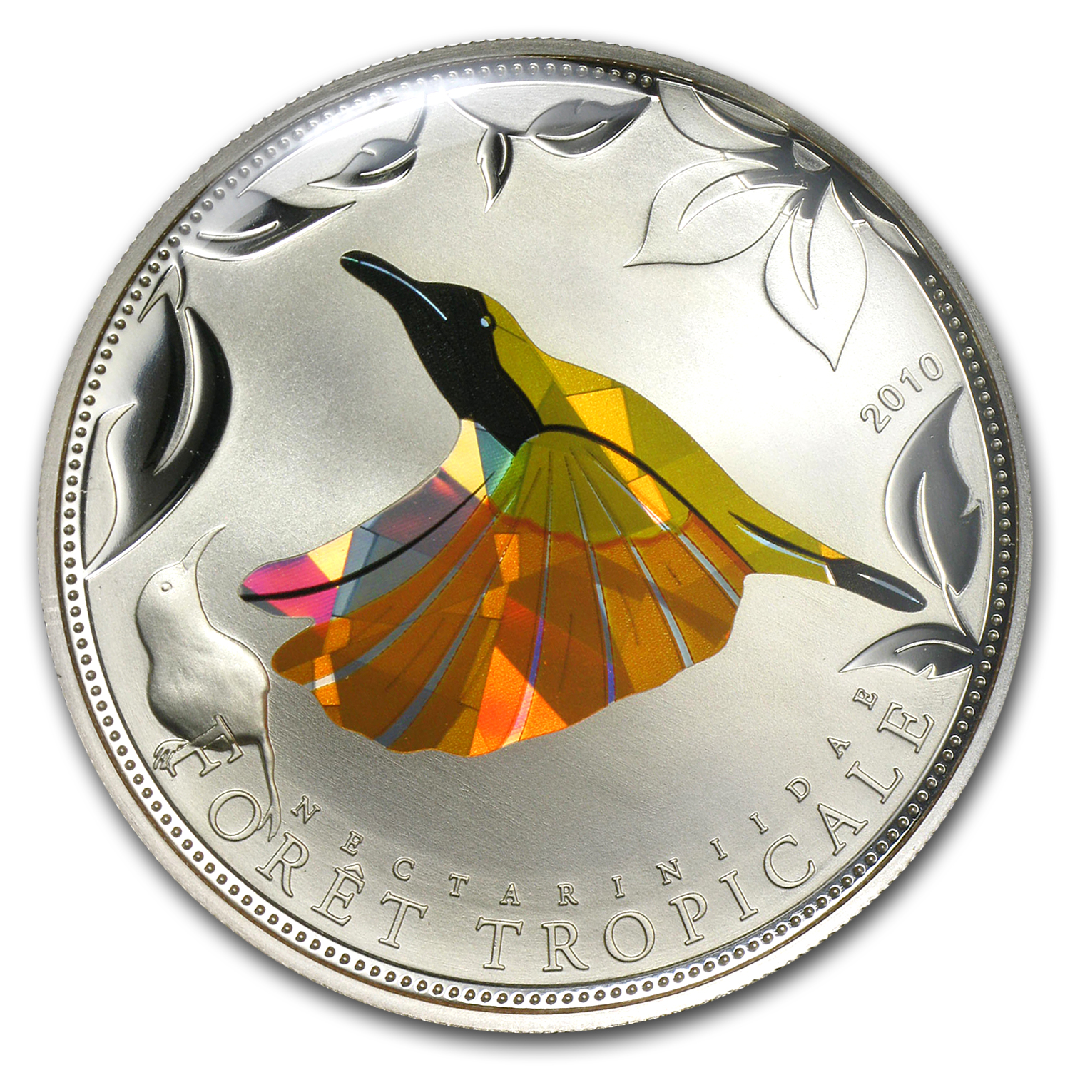 2010 Togo Silver Rainforest Wildlife Yellow Sunbird Prism Proof