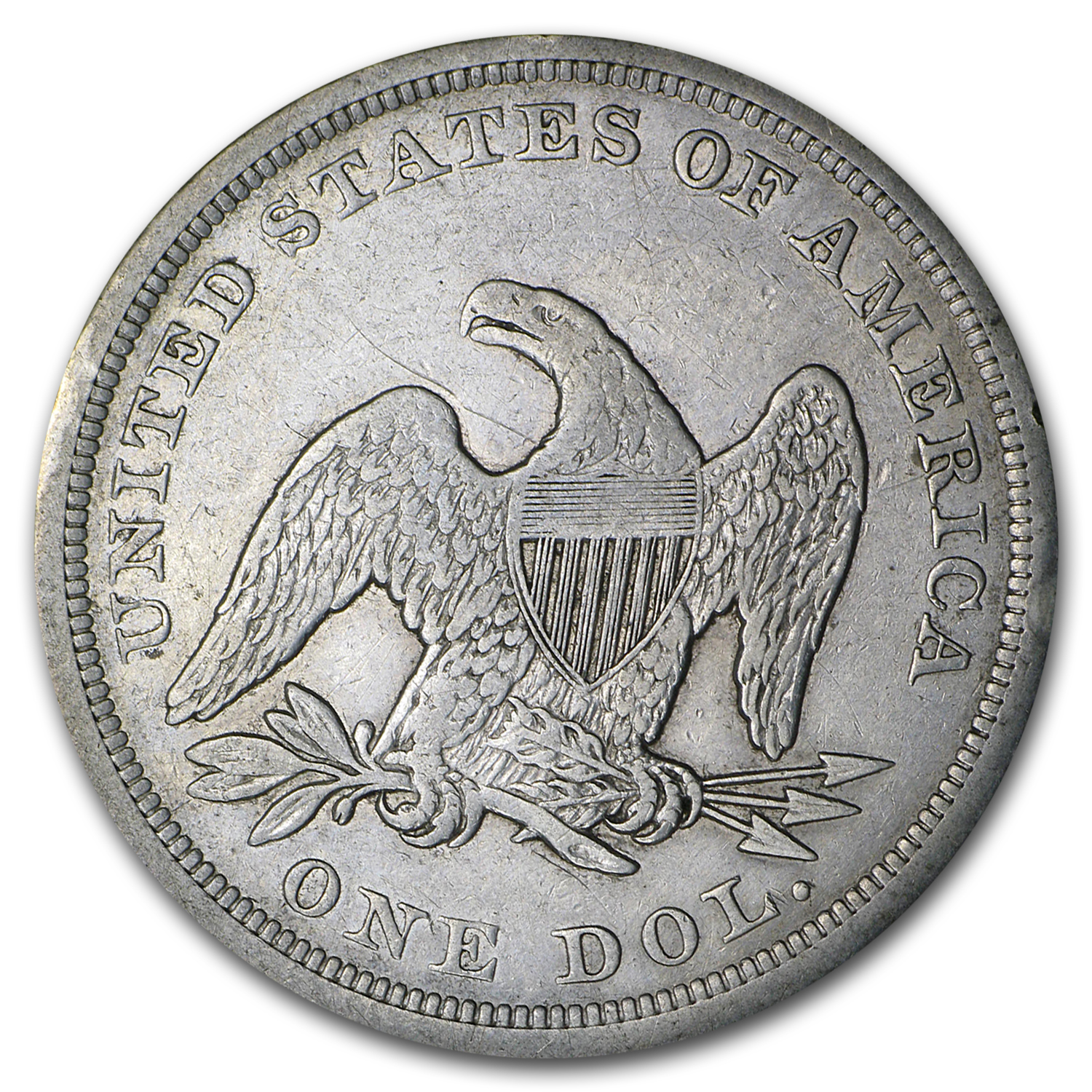 1840-1873 Liberty Seated Dollar - Very Fine