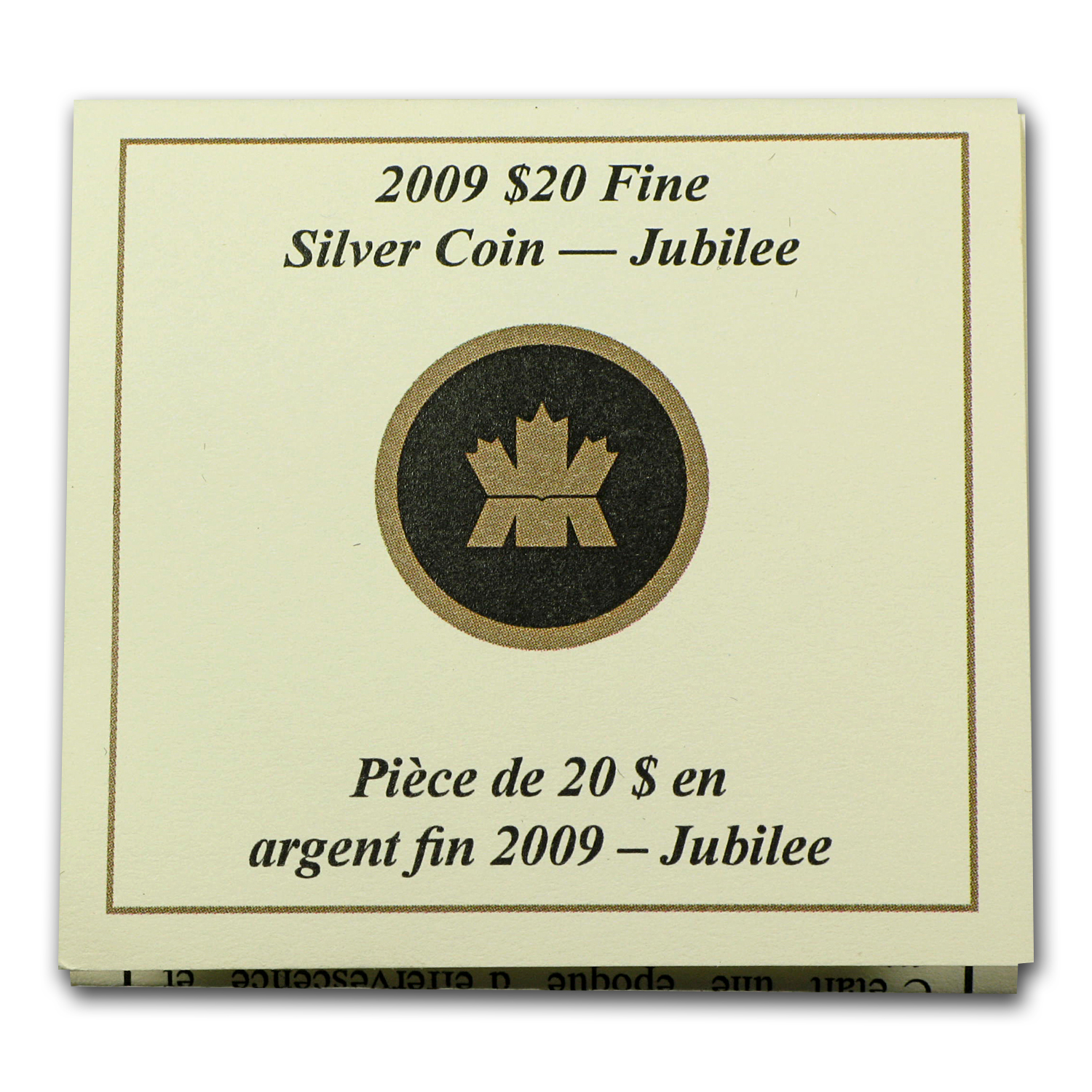 2009 1 oz Silver $20 Great Canadian Locomotives - Jubilee