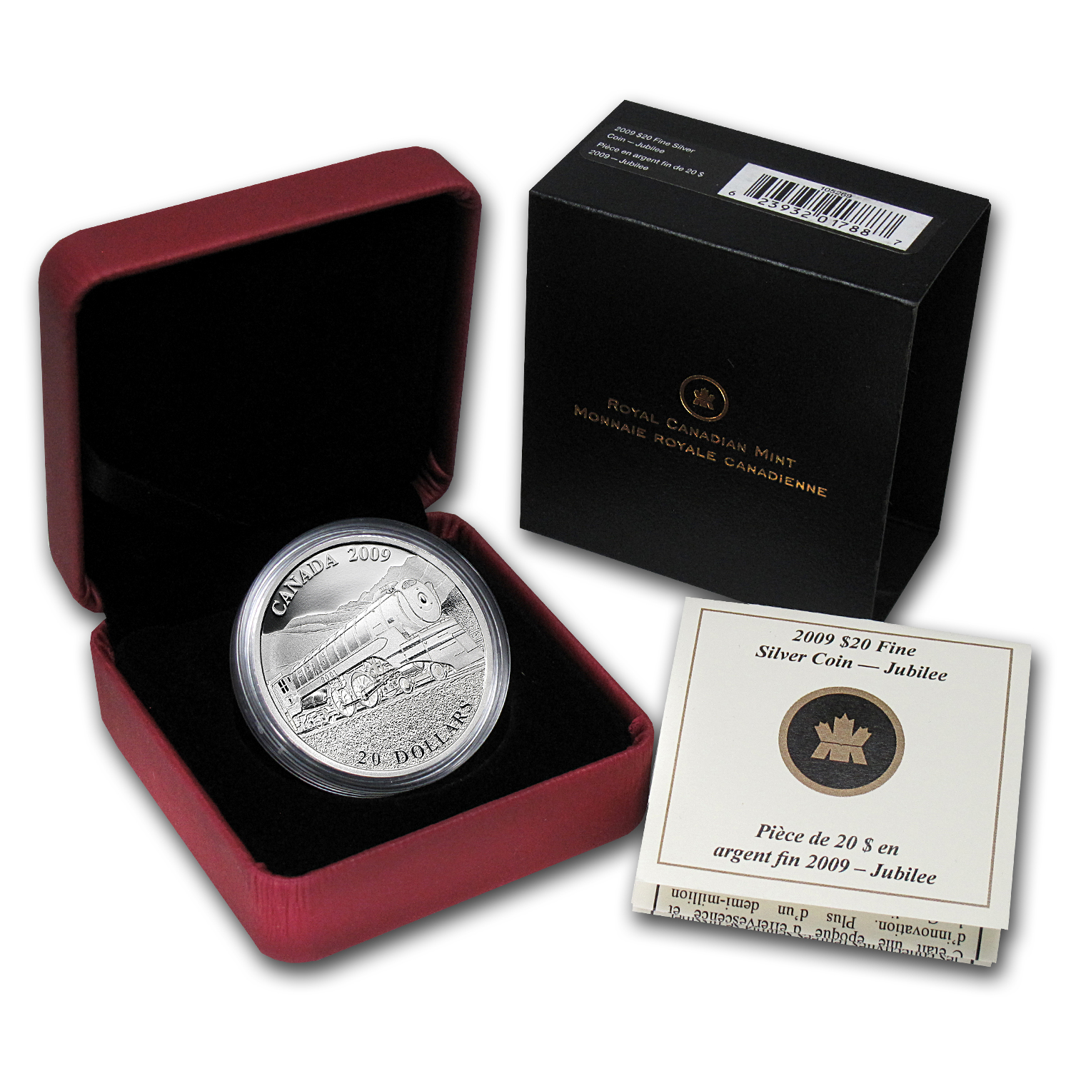 2009 Canada 1 oz Silver $20 Great Locomotives Jubilee